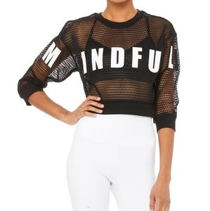 Alo Structured Graphic Mesh Pullover